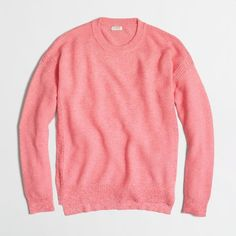 J.Crew Factory cobble-stitch sweater ($45) ❤ liked on Polyvore