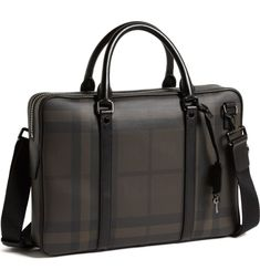 Burberry 'Newburg' Briefcase available at Briefcase For Men, Leather Briefcase, Leather Bag, Office Bags For Men, Uni Bag, Men's Totes, Burberry Handbags, Burberry Scarf, Diy Bags