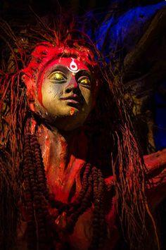 Traditional Artwork - Durga Puja 2014 - Babu bagan