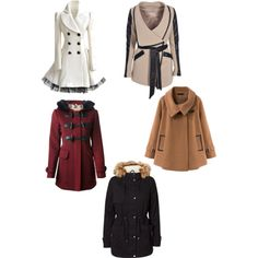 A fashion look from December 2014 featuring Burberry coats, Vero Moda coats and Boohoo jackets. Browse and shop related looks.