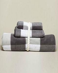 Jacquard Plaid Bath towels / Nautica