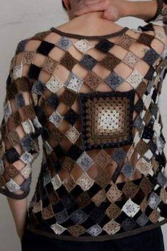 Letras e Artes da Lalá: Blusas de crochê (by pinterest, sem receitas)