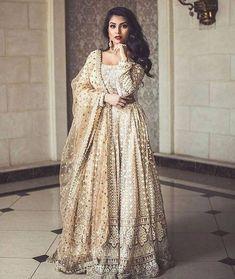 Chikankari lehenga set with net dupatta Fabric net Lehenga Flair meters Pakistani Wedding Outfits, Pakistani Bridal Wear, Pakistani Dresses, Indian Bridal, Indian Dresses, Indian Outfits, Indian Anarkali, Emo Outfits, Gold Lehenga