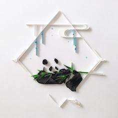 #quilling #paper #art #paperart #paperquilling #design #paperdesign #panda #bamboo #blackandwhite #lgenpaper #strictlypaperart #designspiration #クイリング #ペーパー #アート #ペーパーアート #紙 #デザイン #パンダ #白黒
