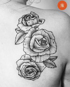 Sanne Volja — Thanks Sarah! #roses #rosestattoo #tattoo...