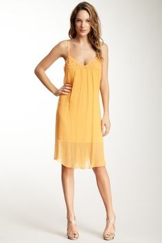 Plenty By Tracy Reese Embroidered Crepe Silk Slip