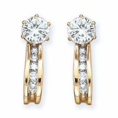 10k Gold Cluster Shaped Earring Jacket with Diamonds 0.24 ct. tw. G-H,I2-I3