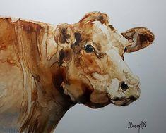 Cow Painting, Cow Art, Cows, Cow Wall Art, Cow Decor, Farm Decor