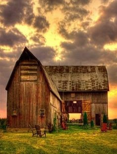 Barn & Storm Clouds Passing