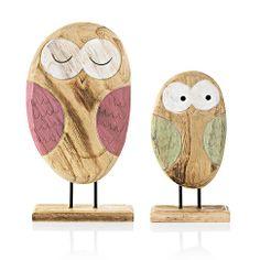 Nicht nur für Eulen Fans: Eulen-Set aus Holz.