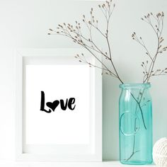 Love poster, Minimalist quote art, Love printable, Minimalist poster, Romantic wall art, Above bed wall decor, Nordic print art, Affiche    Welcome to my shop!    Printable posters are the new way of wall decorating.  They are one-of-a-kind and inexpensive to make gifts for family and friends. They can also be used to decorate/refresh the look of any room or office space. The digital file is delivered in minutes, NO waiting, NO shipping fees!    Print at home, online or at your local print…