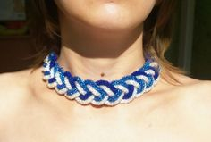 Beaded crochet necklace Sea breeze by Vifslabeads on Etsy