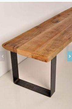 bankje hout metaal - Google zoeken
