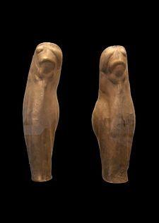 """Greek greaves of """"Denda"""", ca. 500 BC, Staatliche Antikensammlungen"""