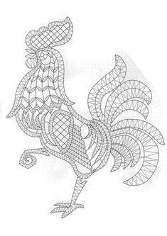 T t cock chicken Crochet Cross, Irish Crochet, Crochet Motif, Crochet Lace, Crochet Patterns, Lace Embroidery, Embroidery Patterns, Romanian Lace, Bobbin Lacemaking