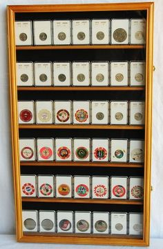Coin Display Cases: instead of the little books dad keeps his ...