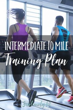 An intermediate 10 mile training plan for runners who have been running moderate mileage and want to get faster. 10 Mile Training Plan, Race Training, Half Marathon Training, Weight Training, Running Plan, Running Workouts, Running Tips, Running For Beginners, Weight Loss Workout Plan