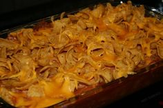 Oven-Baked Frito Pie - this is so good! When my son was growing up we always ended up with 5-6 of his football teammates at our house for dinner on Friday nights and this is what I fed them. It is cheap to fix and I never met a teenager (boy) who didn't like it.