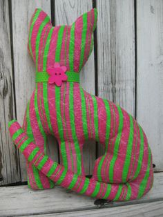 One Cool Cat Decor / Stuffed Toy / Gift by MiLuCouture on Etsy, $22.00