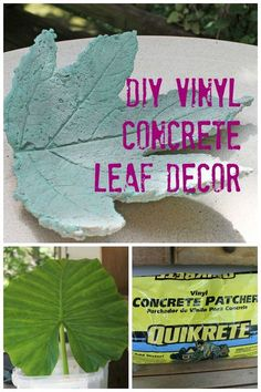 This is a great tutorial for how to make your own concrete leaf decor ~ great for indoor and outdoor decorating.