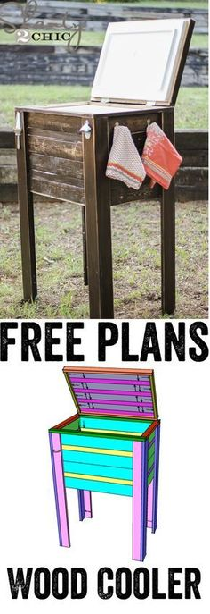 DIY Wood Cooler with FREE Plans! LOVE this! Perfect for Summer! www.shanty-2-chic.com