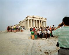 Martin Parr (British, born 1951), GREECE, Athens, Acropolis from the series Small World, 1991, archival pigment print, 20 x 24 inches. Edition of 25. Collection of Middlebury College Museum of Art. Gift (by exchange) of Wilson Farnsworth, George Mead, and Henry Sheldon, 2015.227.