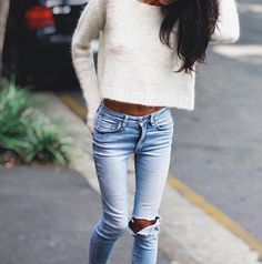 Love that fluffy sweater
