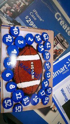 Sports banquet -- round basketball instead. Football Coach Gifts, Football Treats, Football Spirit, Football Cheer, Football Birthday, Youth Football, Football And Basketball, Football Season, Soccer
