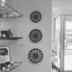 Nanbu cast iron trivets also look good on a wall #trivet #castirontrivet #castiron #tetsubin #nanbutekki