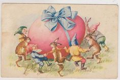 Latvian Easter post card.. Posted 07.04.1939