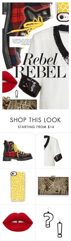 """Mixed Prints"" by cultofsharon ❤ liked on Polyvore featuring Dsquared2, Casetify, Charlotte Olympia and Damaris"