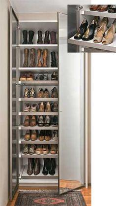 Soluções para um dilema: onde guardar tantos sapatos?