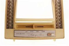 make up mirror...slide the light adjuster to day, night, evening, morning --- this was DELUXE
