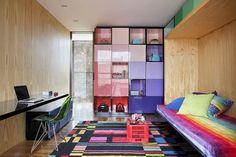 colorful bedroom #decor #kids #rainbow