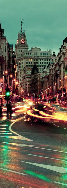 Gran Via Avenue Madrid Spain