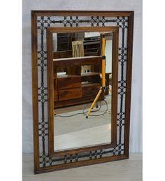 Indyjskie drewniane #lustro wyprodukowano w Indiach Model: GA-IND-48 tylko na 421 zł. Kupuj online @ http://goo.gl/ZSVWSt