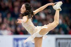 Marin Honda of Japan skates her short program at the 2017 Skate Canada International ISU Grand Prix event in Regina, Saskatchewan, Canada, on October 27, 2017. / AFP PHOTO / Geoff Robins