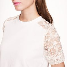 Lace-sleeve sweatshirt   J.Crew… Add it to the list of things I need.