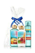 ENDLESS WEEKEND GIFT SET (Lotion, Shower Gel & Mist) Full Size. Hand Picked By Us, Wrapped By You! Top Notes: Raspberry Lychee Sorbet, Sparkling Mandarin, Juicy Nectarine, Apple, Mirabelle Plum. An exhilarating blend of raspberry lychee sorbet, sun-kissed magnolia and vanilla sandalwood USAGE:. Bath And Body Works. Gift Set. Cleanse with Shower Gel, soften with moisturizing Body Lotion & spritz a kiss of mist to make your fragrance last all day! Mid Notes: Sun-Kissed Magnolia,...