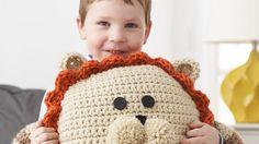 Crochet Lion Pillow Pattern