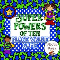 """This game was created so that my students could practice multiplying and dividing larger numbers by powers of ten. Student partners use number cards and a special spinner to compete against each other. Over four rounds, students """"hop the decimal point"""" while dividing or"""
