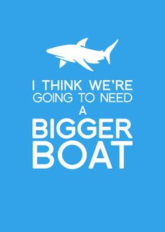 I think we're going to need a bigger boat, shark quote art print. Movie Quotes, Book Quotes, Matthew 6, Art Prints Quotes, Shark Week, Teenage Years, Ocean Waves, Good Movies, Movies And Tv Shows