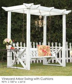 Vineyard Arbor Swing with Cushions | Town & Country Event Rentals