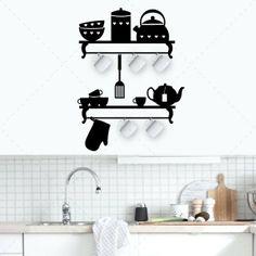 Porta canecas de parede - Decoração em vinil Autocolante decorativo e Papel de parede - www.iconstore.pt