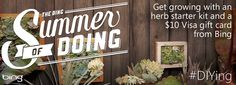 DIY, save money and grow with an herb garden starter kit, $10 Visa Gift Card and chance to win pro garden design consult and Home Depot gift card - Summer of Doing!