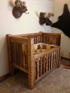 Outdoor boys nursery. Love, love, love the crib