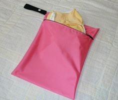 Pink Zippered Hanging Wet Bag