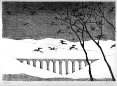 paul flora lithographien Creative Illustration, Flora, Birds, Black And White, The Originals, Abstract, Drawings, Artist, Pictures