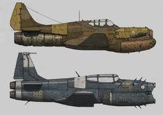 War Planes by Ariel Perez on ArtStation.
