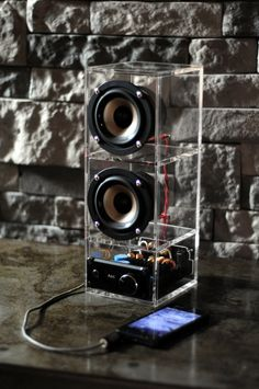Boombox speaker system. LOUD by DoerflerDesigns on Etsy